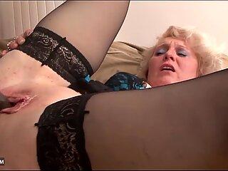 Black Cock Craving for Granny in Hardcore Interracial