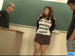 Plump and busty student fucked by two hung and horny teachers - More at javhd.net